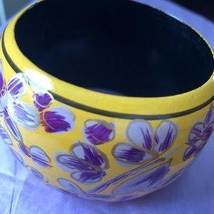 Vintage hand painted wooden bangle brand